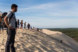 personnes sur la Dune du Pilat