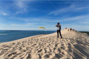 personne sur la dune du pilat