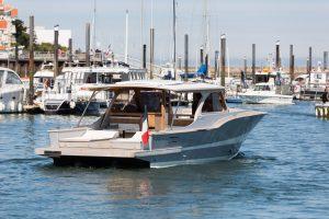 bateau dans un port-bassin d'arcachon