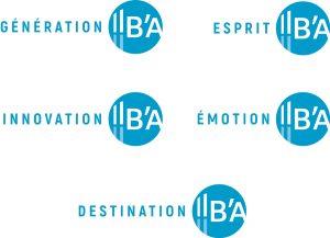 Logos Marque Bassin d'Arcachon - Génération, Esprit, Innovation, Emotion, Destination