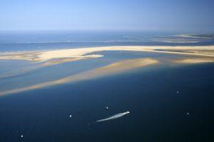 photo vue du ciel du Banc d'Arguin