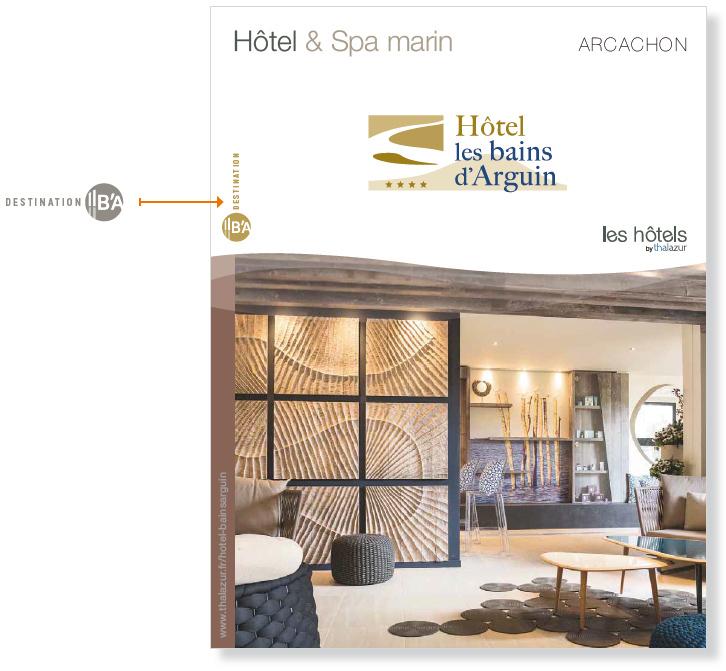 exemple capture écran de l'Hôtel les bains d'Arguin