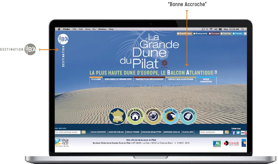 exemple de capture écran de la grande dune du Pilat