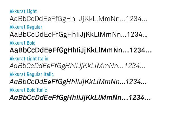 typographie Akkurat